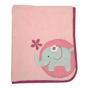 Lollipop Jungle Nursery Plush Blanket and Applique Baby