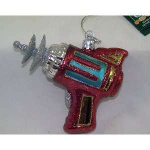 RAY GUN Space Age Sci Fi Christmas Noble Gems Ornament