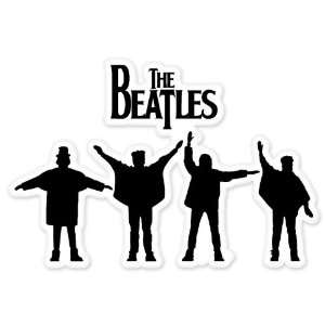 The Beatles Silhouette car bumper sticker decal 5 x 3