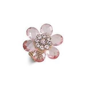 Pink/Gold Flower Cocktail Ring