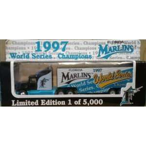 Marlins World Series 180 Scale Die Cast Semi Truck