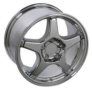 17 x11 Chrome ZR1 Style Rear Wheels Rims Fit Camaro Corvette