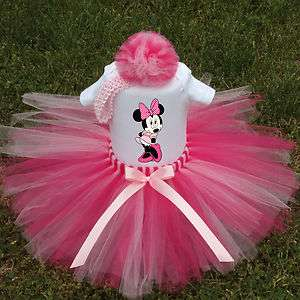 BABY GIRL TUTU DRESS~MINNIE MOUSE~CUSTOM BOUTIQUE SET,BIRTHDAY ★FREE