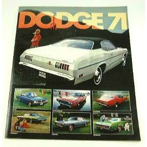 1971 71 DODGE BROCHURE Dart Challenger Charger Demon