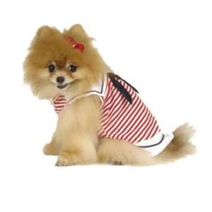 Maxs Closet 90810XS Red Nautical Sailor Dress Pet