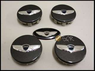 2012 HYUNDAI GENESIS COUPE KDM WING WHEEL CAP(4)+STEERING EMBLEM SET 3