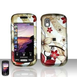 Brown Red Autumn Flower Snap on Hard Skin Faceplate Cover
