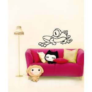 Decal Mural Funny Cartoon Frog Animal Cute Design A675