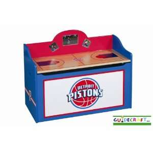 Detroit Pistons Wood Wooden Toy Box Chest