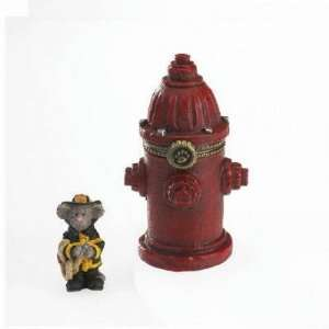 Boyds Fire Hydrant Treasure Box   Captain Dans Lil Red Fire Hydrant