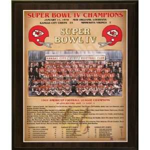1969 Kansas City Chiefs NFL Football Super Bowl 4 IV Championship