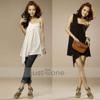 Women Lady Sexy One Shoulder Flouncing Cocktail Party Slim Dress Tops