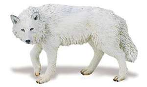 WHITE WOLF; toy/replica/Arctic/wolves/Safari Ltd