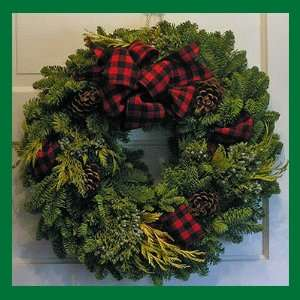 Country Lodge Noble Fir Fresh Christmas Wreath   22