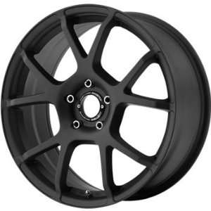 Motegi MR121 18x9 Black Wheel / Rim 5x100 with a 45mm Offset and a 72