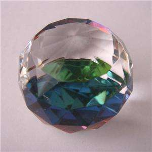 Clear Crystal Ball Glass Paperweight 4cm Gem Display