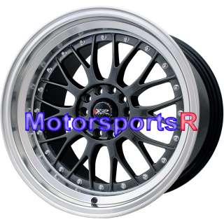20 XXR 521 Chromium Black Rims Wheels Staggered 03 04 05 06 07 08