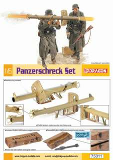 Scale WWII German Panzerschreck Set Kit for 12 Figures 75011