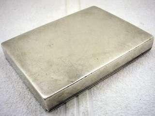 ANTIQUE RUSSIA EMPIRE 1900s ART DECO STERLING SILVER CIGARETTE CASE