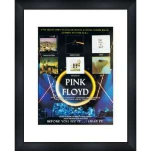 PINK FLOYD Albums   Custom Framed Original Ad   Framed