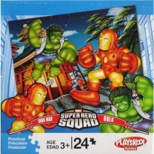 Kids Puzzle Iron Man & Hulk Toys & Games