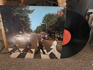 THE BEATLES   ABBEY ROAD LP / RED CAPITOL LABELS