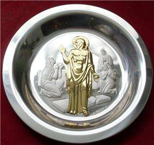 1974 Franklin Mint Easter Sterling Silver Plate $488