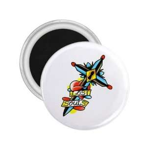 Tattoo Cross Life Art Fridge Souvenir Magnet 2.25 Free