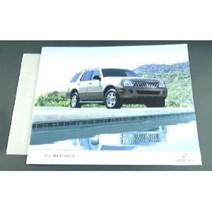 2004 04 Mercury MOUNTAINEER Truck Suv BROCHURE Everything