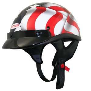Outlaw 3D American Flag Half Helmet   XXL Automotive