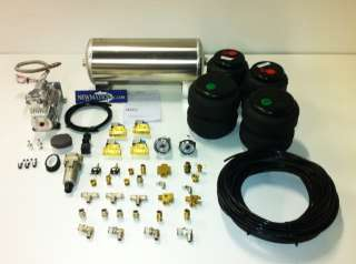 BASIC FRONT & BACK AIR RIDE KIT WITH AIR LIFT BAGS,ASCO VALVES