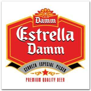 Estrella Damm Beer Label Car Bumper Sticker Decal 4x4