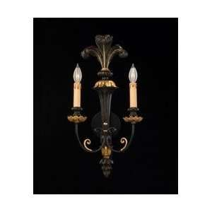 Savoy House 9 751 2 1204 Distressed Black and Gold Hand Carved Wood