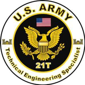 United States Army MOS 21T Technical Engineering Specialist Decal