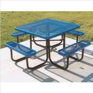 Ultra Play P 46 Square Table with Diamond Pattern Frame