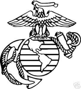 USMC united states marine corps vinyl decal sticker   army, navy