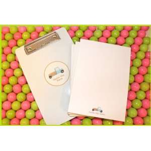 personalized clipboard & (4) note pads