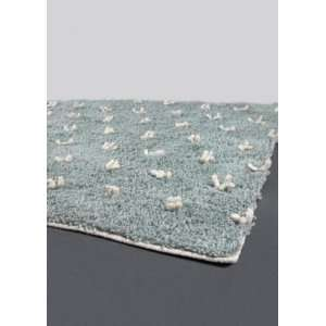 x106 Strata Hand woven Rug, Blue, Ivory, Carpet