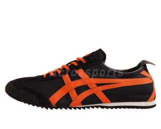 Asics Onitsuka Tiger Mexico 66 DX Nylon Black Orange Mens Casual Shoe