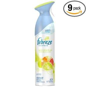 Febreze Air Effects Citrus & Zest, 9.7 Ounce (Pack of 9