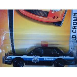 Matchbox Police Ford Crown Victoria Black Patrol Car K 9 Unit Detailed