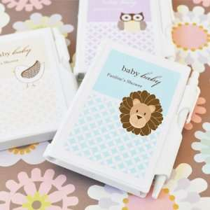 Keepsake Baby Animals Personalized Notebook Favors (Set of 24) Baby