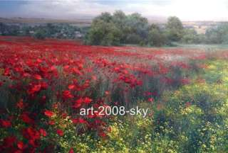 Original Oil painting Flower art landscape on canvas 36x48