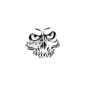 CREEPY SKULL FACE WITH SCARY EYES SKULL FACE WHITE VINYL