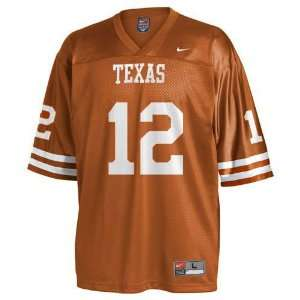 Texas Longhorns #12 Ncaa Youth Replica Football Jersey By Nike (Orange