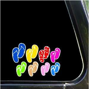 Flip Flop Family Car Decals Stickers Stick Family