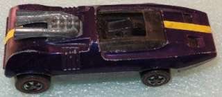 Mattel 1969 PURPLE HOT WHEELS Red Line PEEPING BOMB race car