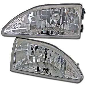 94 95 96 97 98 FORD MUSTANG EURO CRYSTAL CLEAR HEADLIGHTS COBRA