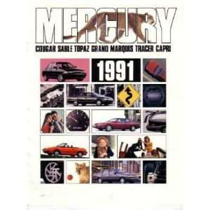 1991 MERCURY Sales Brochure Literature Book Piece