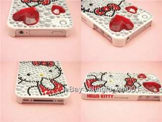 Hello Kitty Bling Crystal Rhinestone iPhone 4 Case NEW